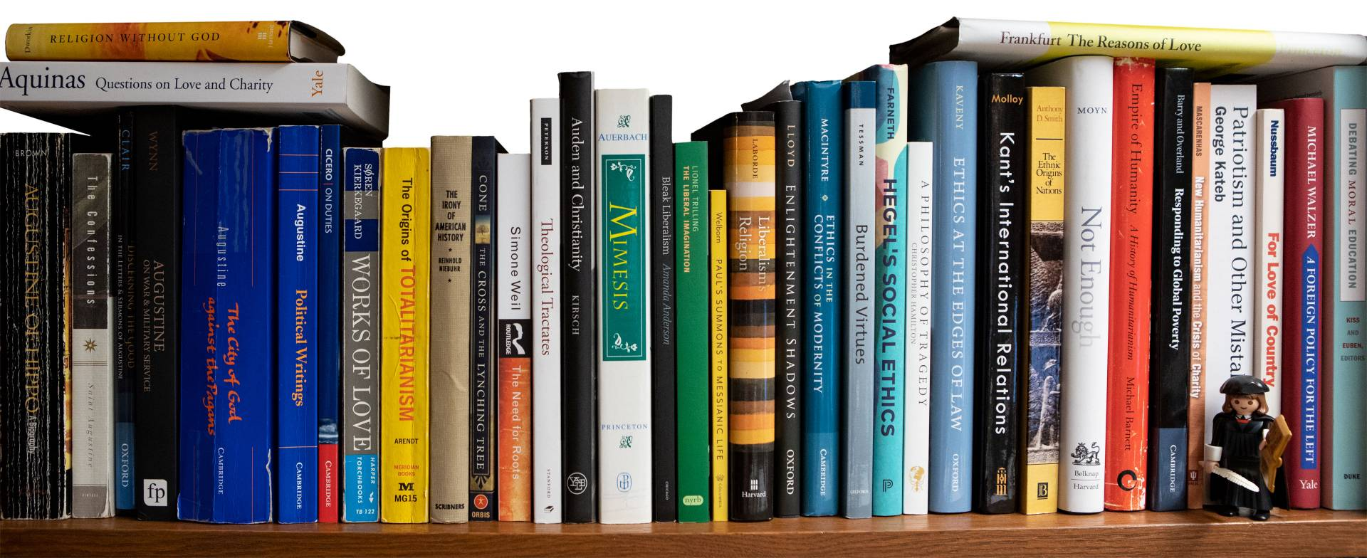 Books on Eric Gregory's bookshelf