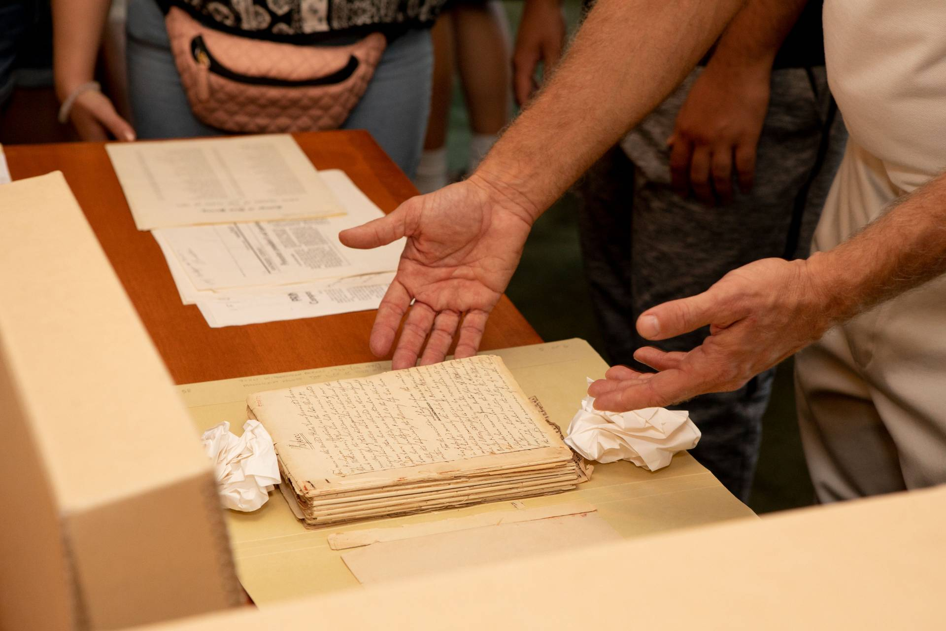 Original papers belonging to John Witherspoon on display