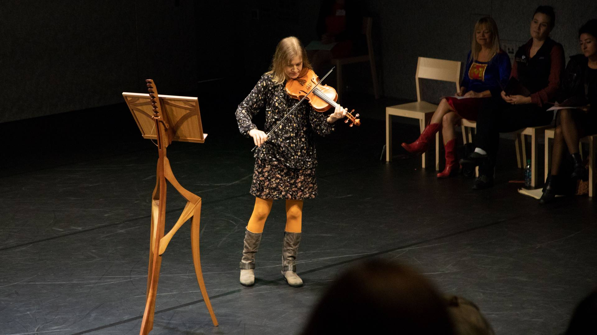 Amy Zaker playing the violin