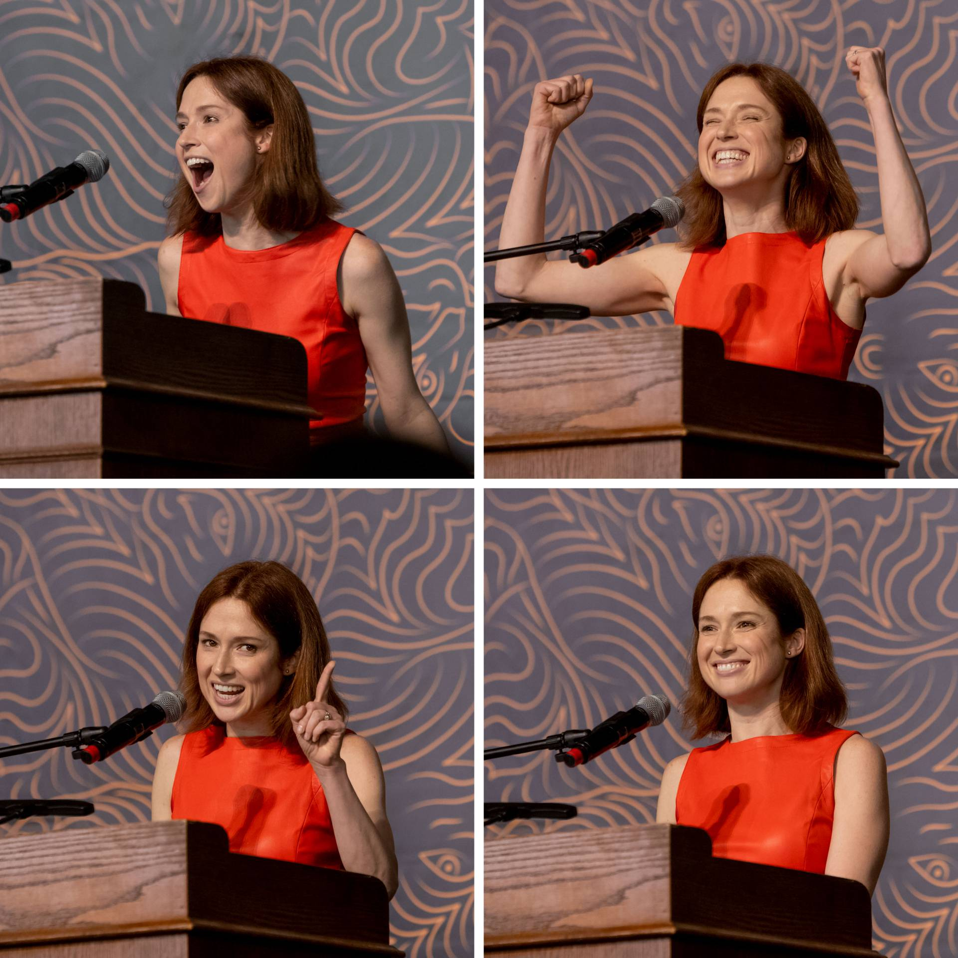 4 faces of Ellie Kemper