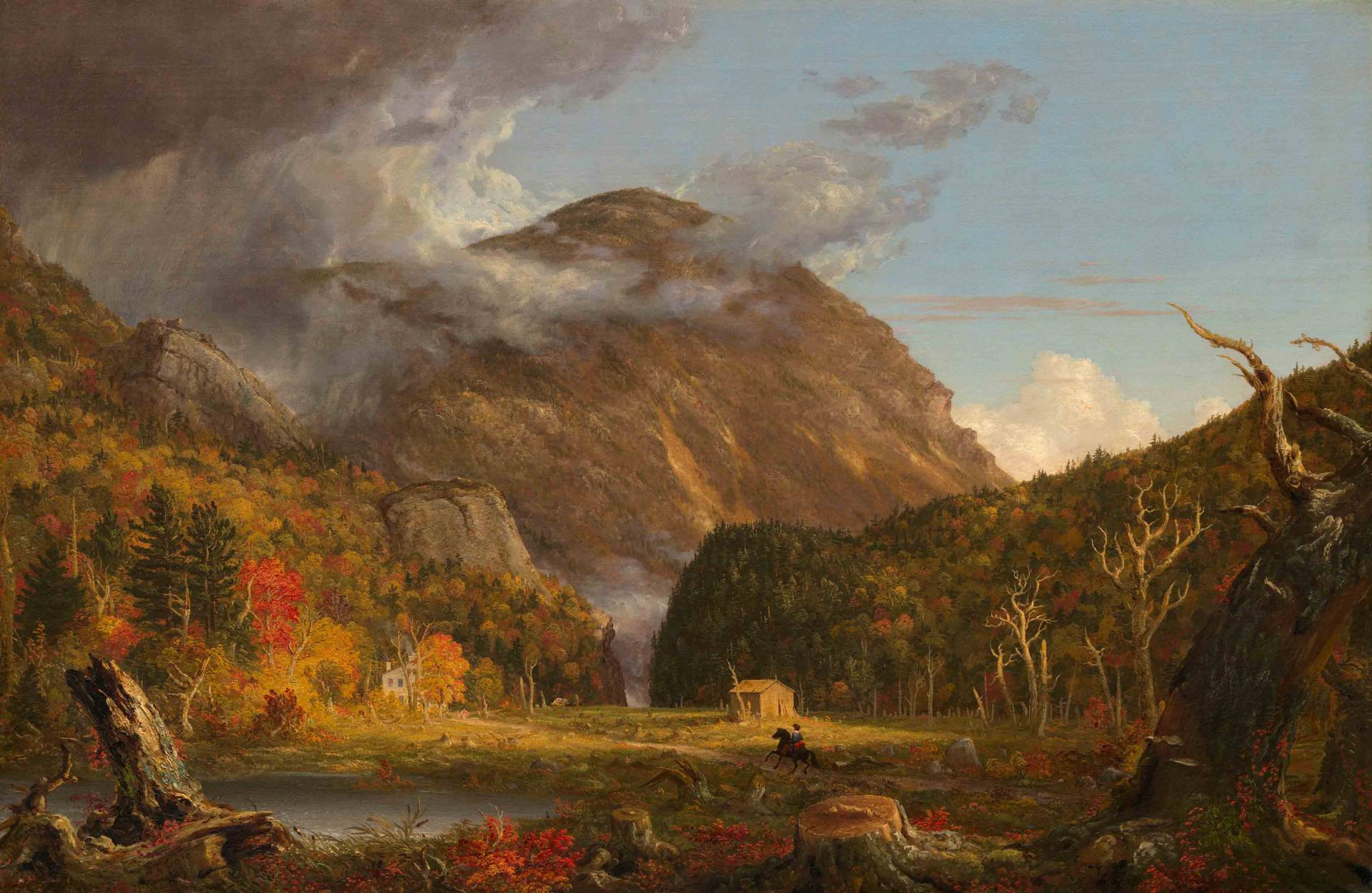 """Thomas Cole painting """"A View of the Mountain Pass Called the Notch of the  White 5ae2729c87"""
