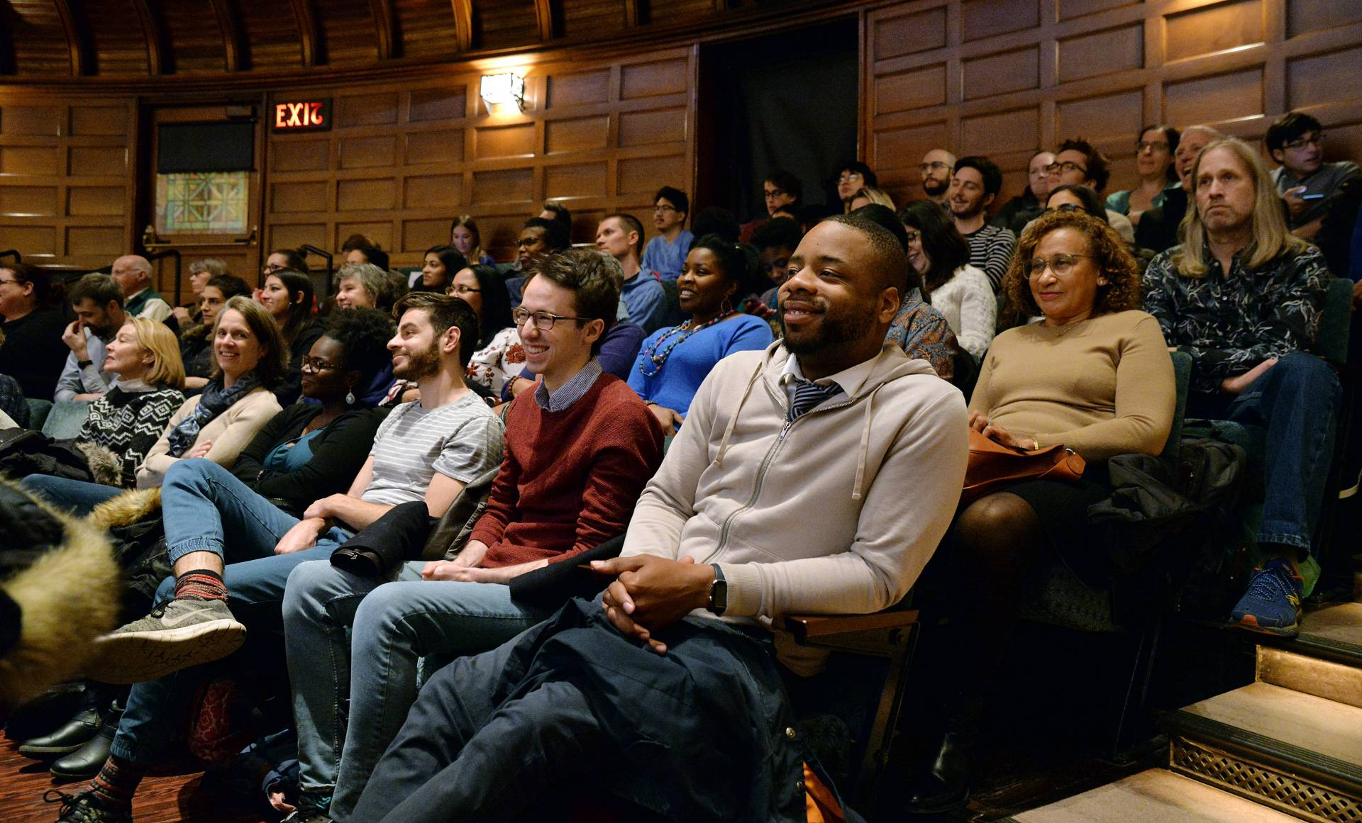 Audience members laugh during Ta-Nehisi Coates' lecture