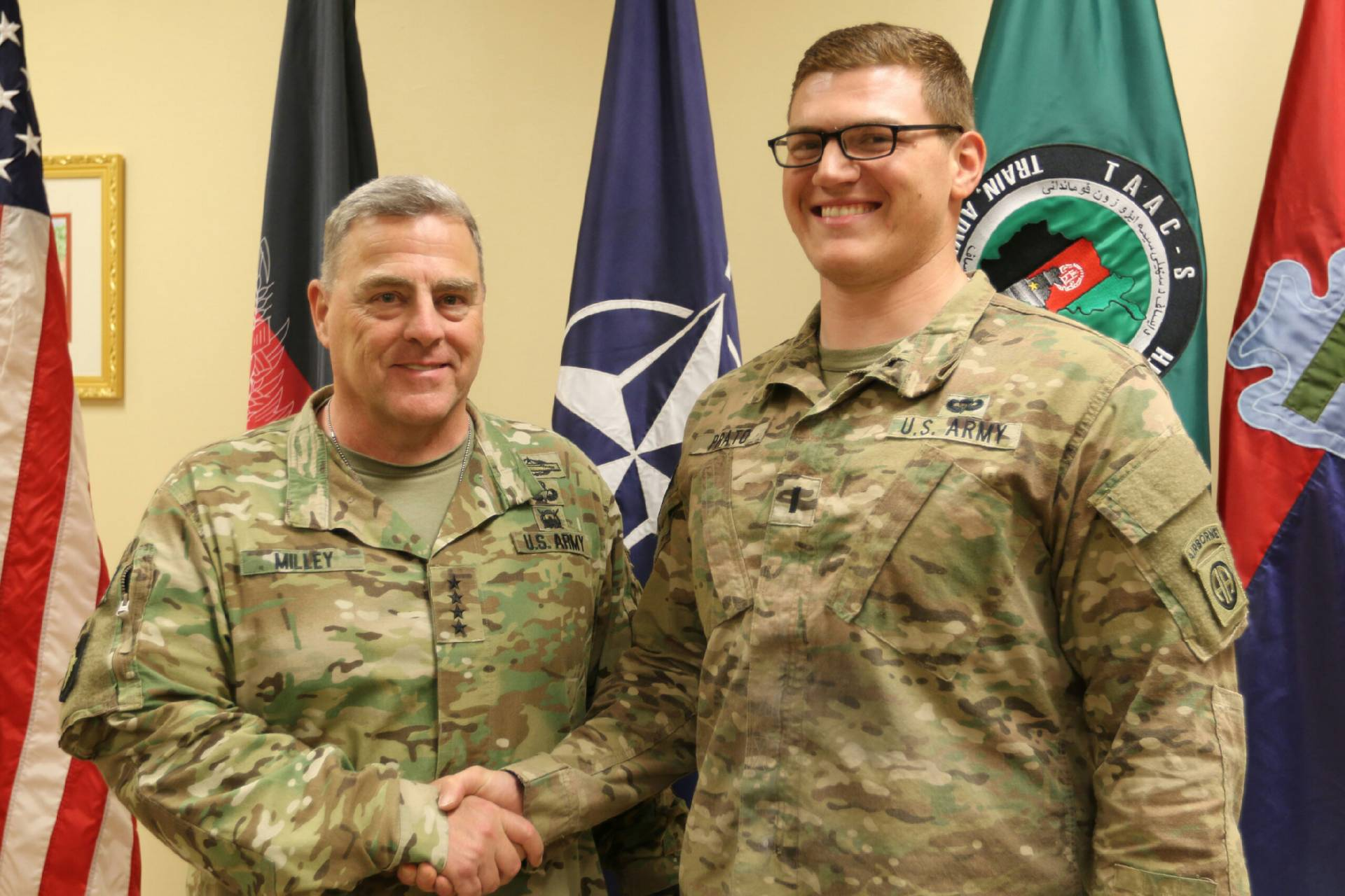 General Mark Milley and Victor Prato