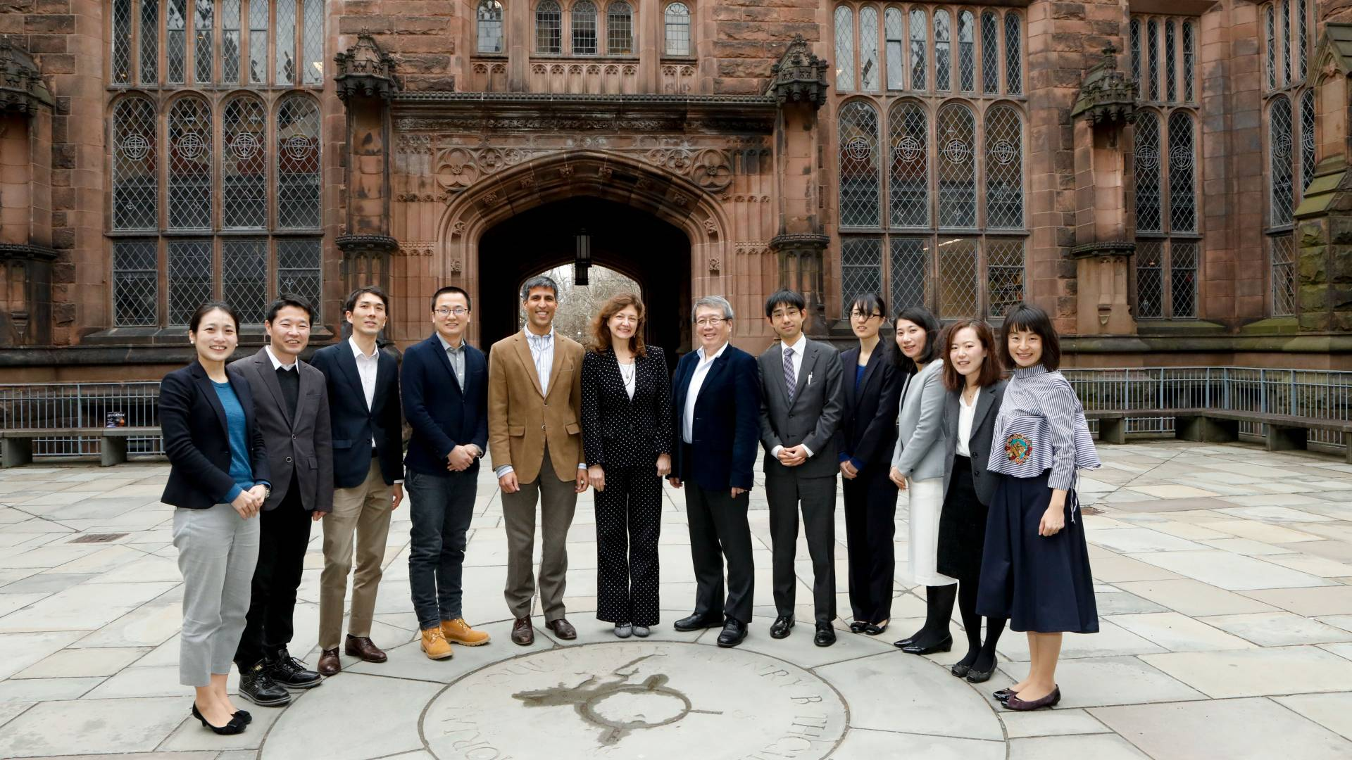 University of Tokyo delegates and Princeton University administrators