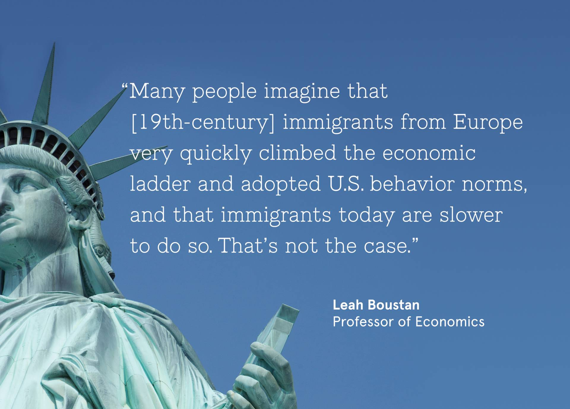 Fact Checking Immigration Boustan Uses Big Data To