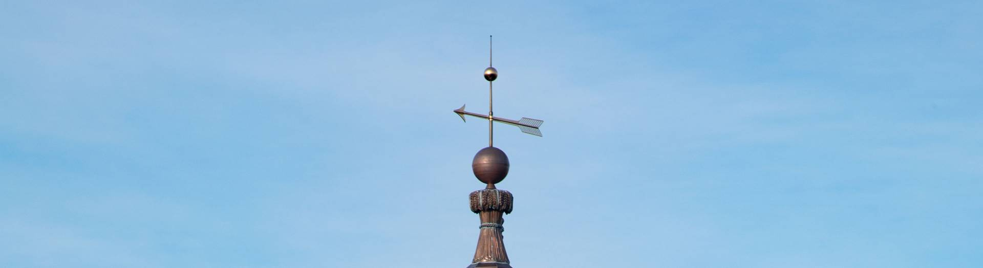 Weather vane on Nassau Hall cupola