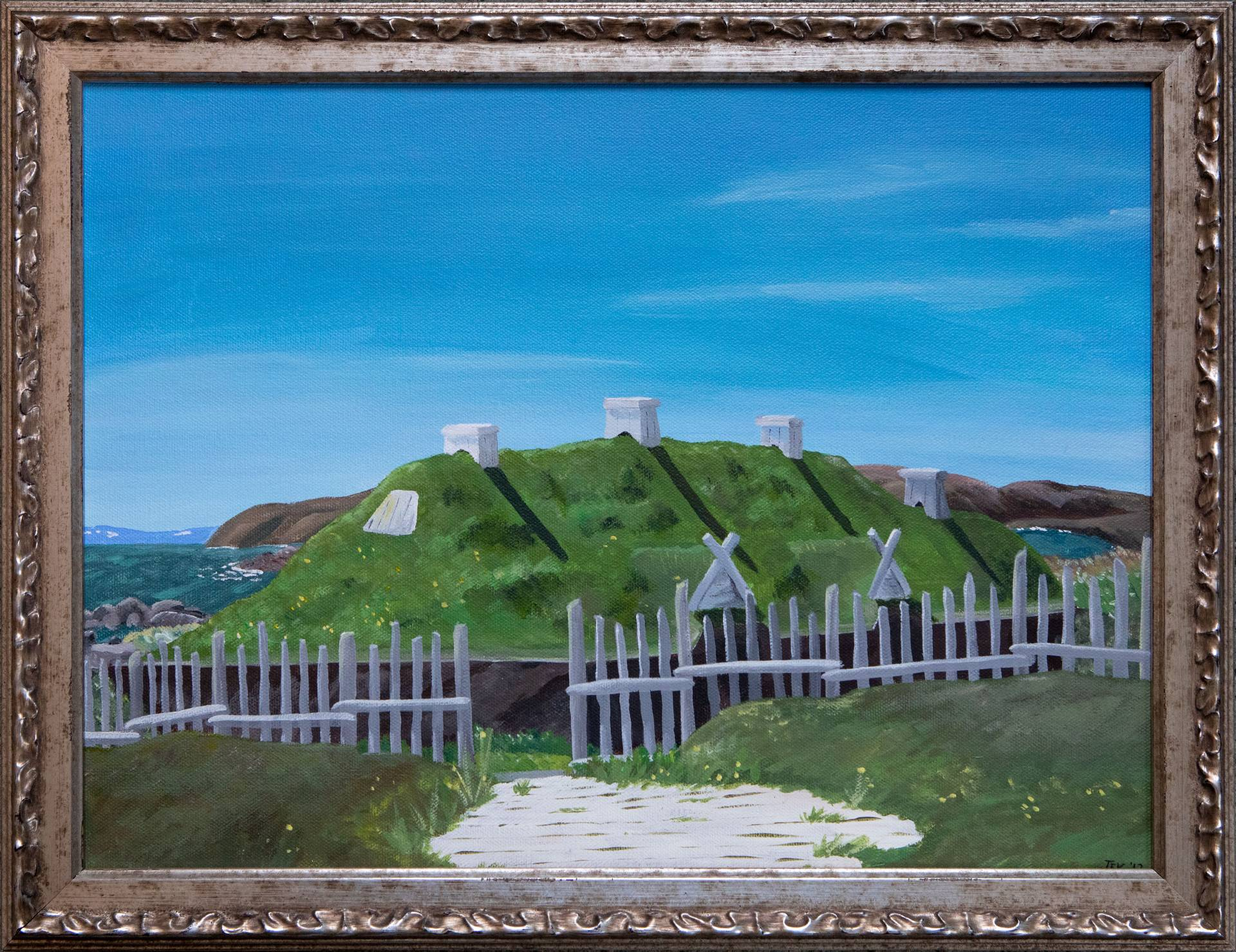 Painting of Newfoundland village