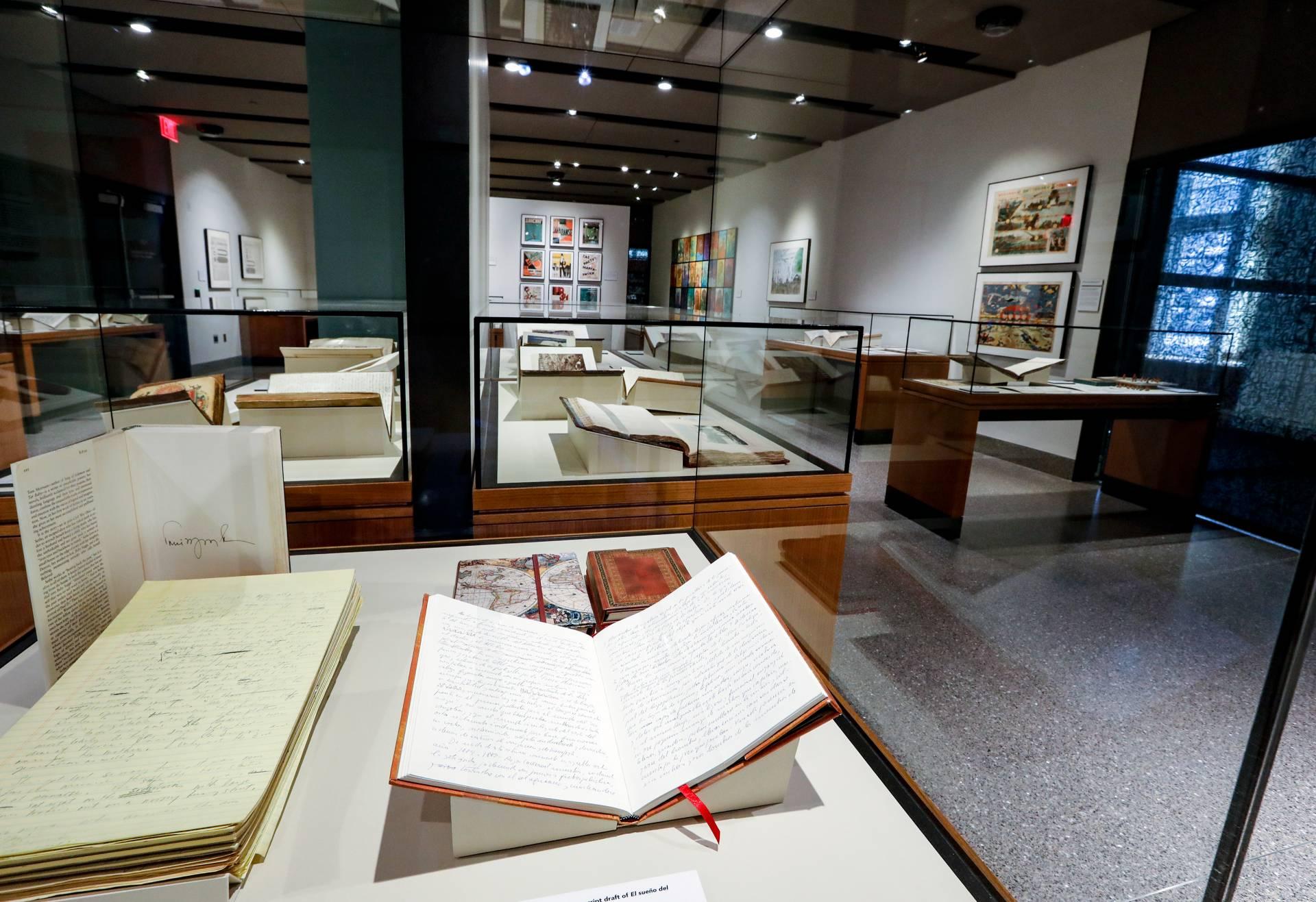 Books on display in Milberg Gallery
