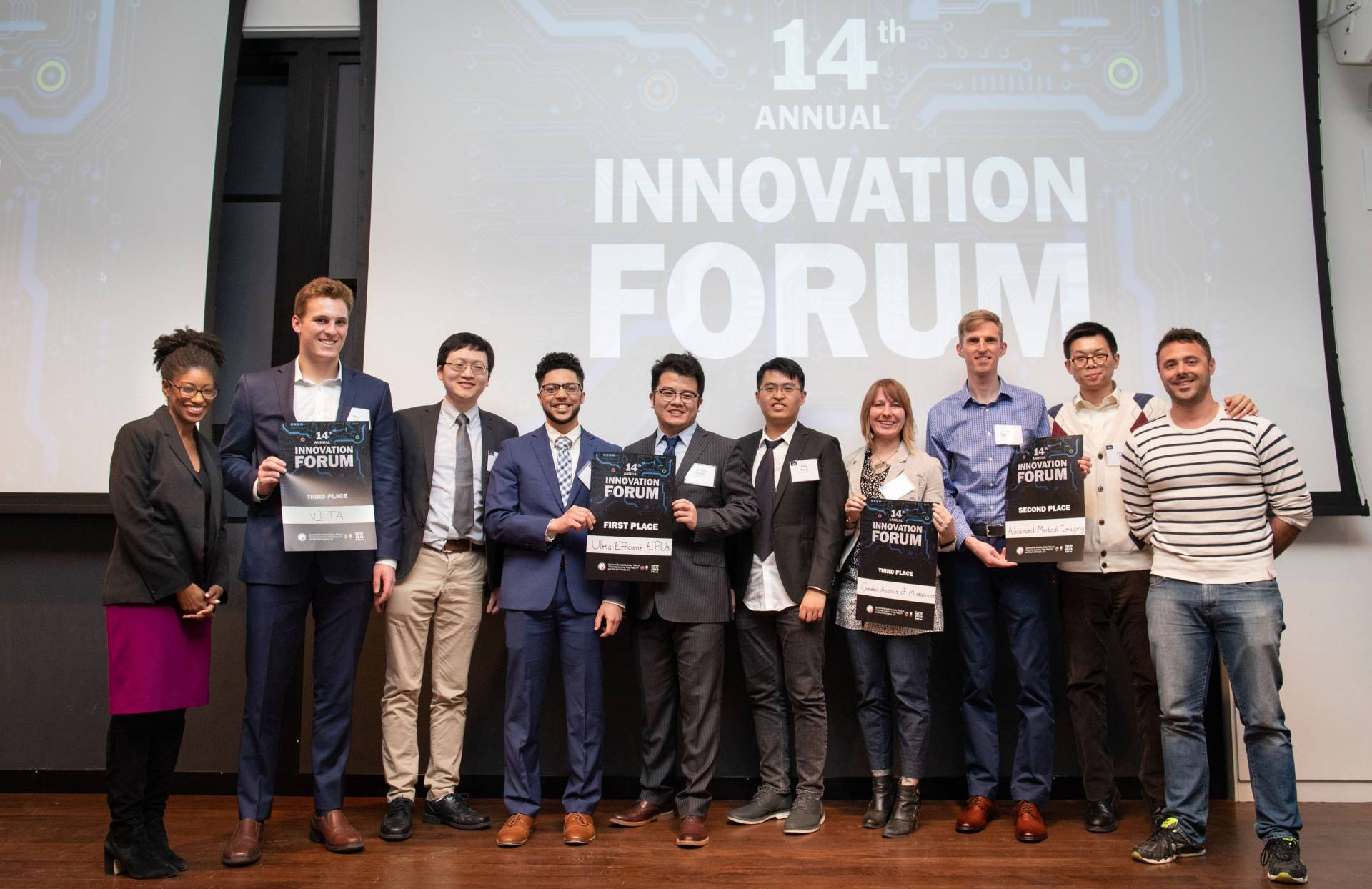 The winners on stage at the Innovation Forum