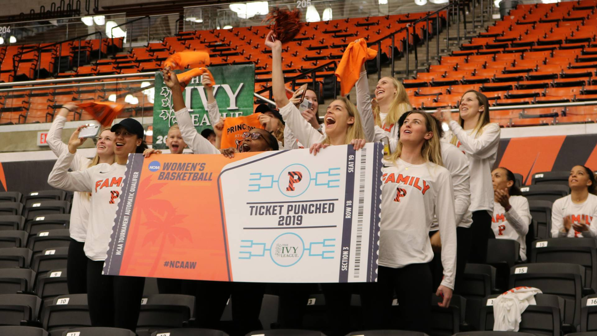 Students cheering for women's basketball