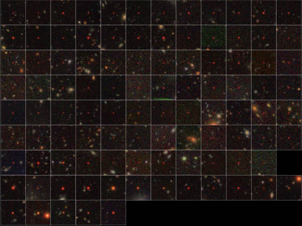 Set of 100 quasars identified from HSC data
