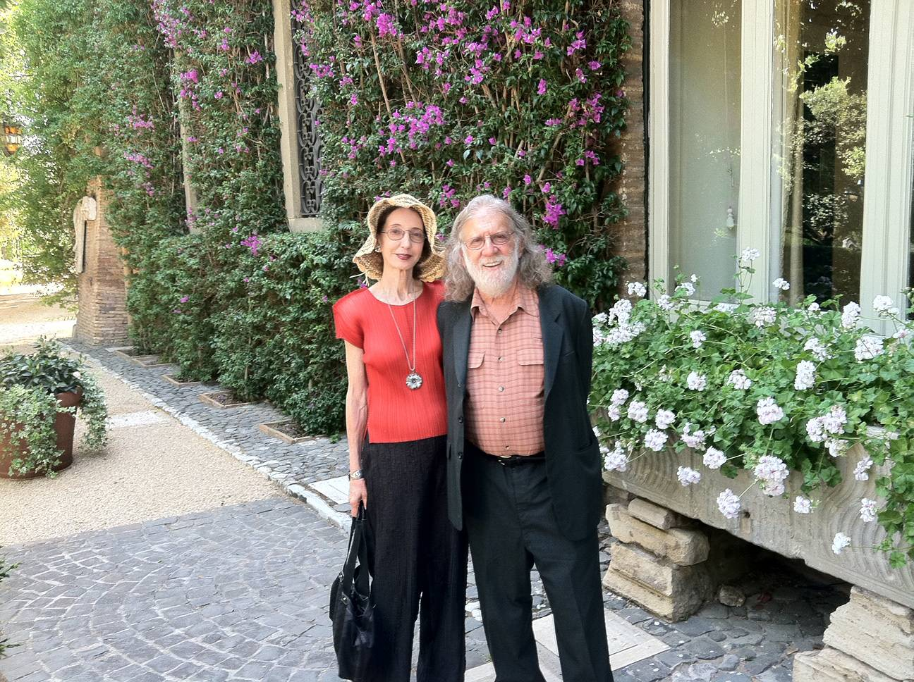 Joyce Carol Oates and Charlie Gross in Rome