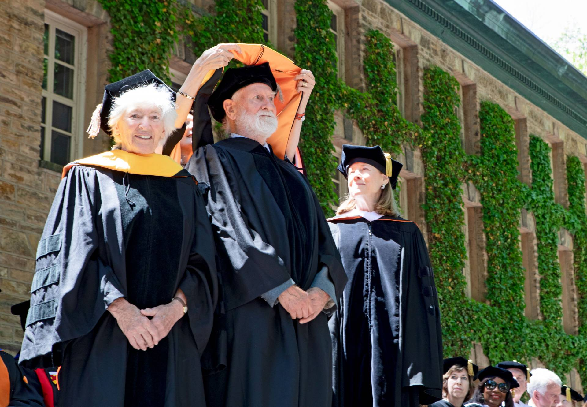 B. Rosemary Grant and Peter Grant receiving honorary degrees