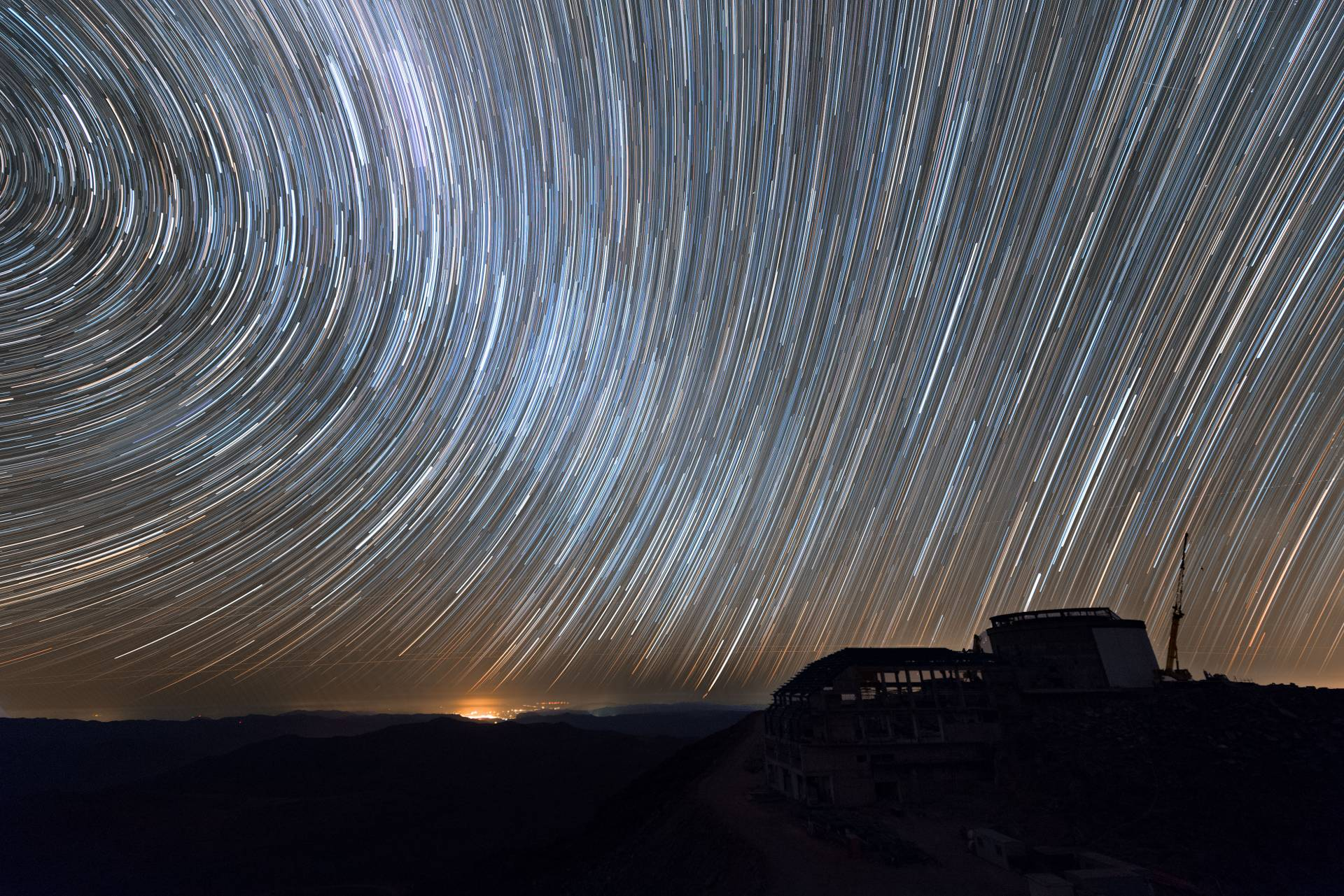 Long exposure photo of night sky