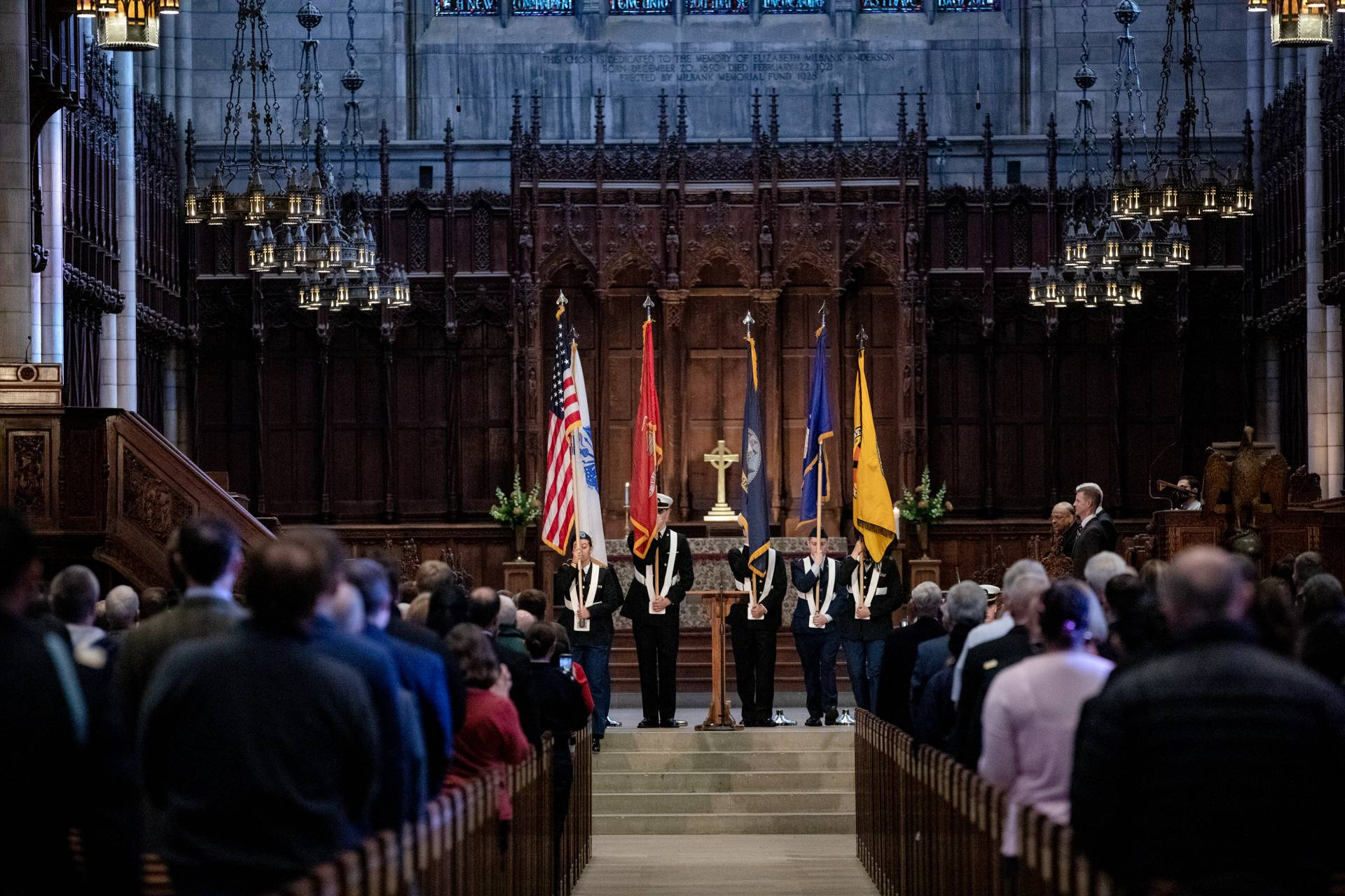 ROTC ceremony in the Princeton chapel