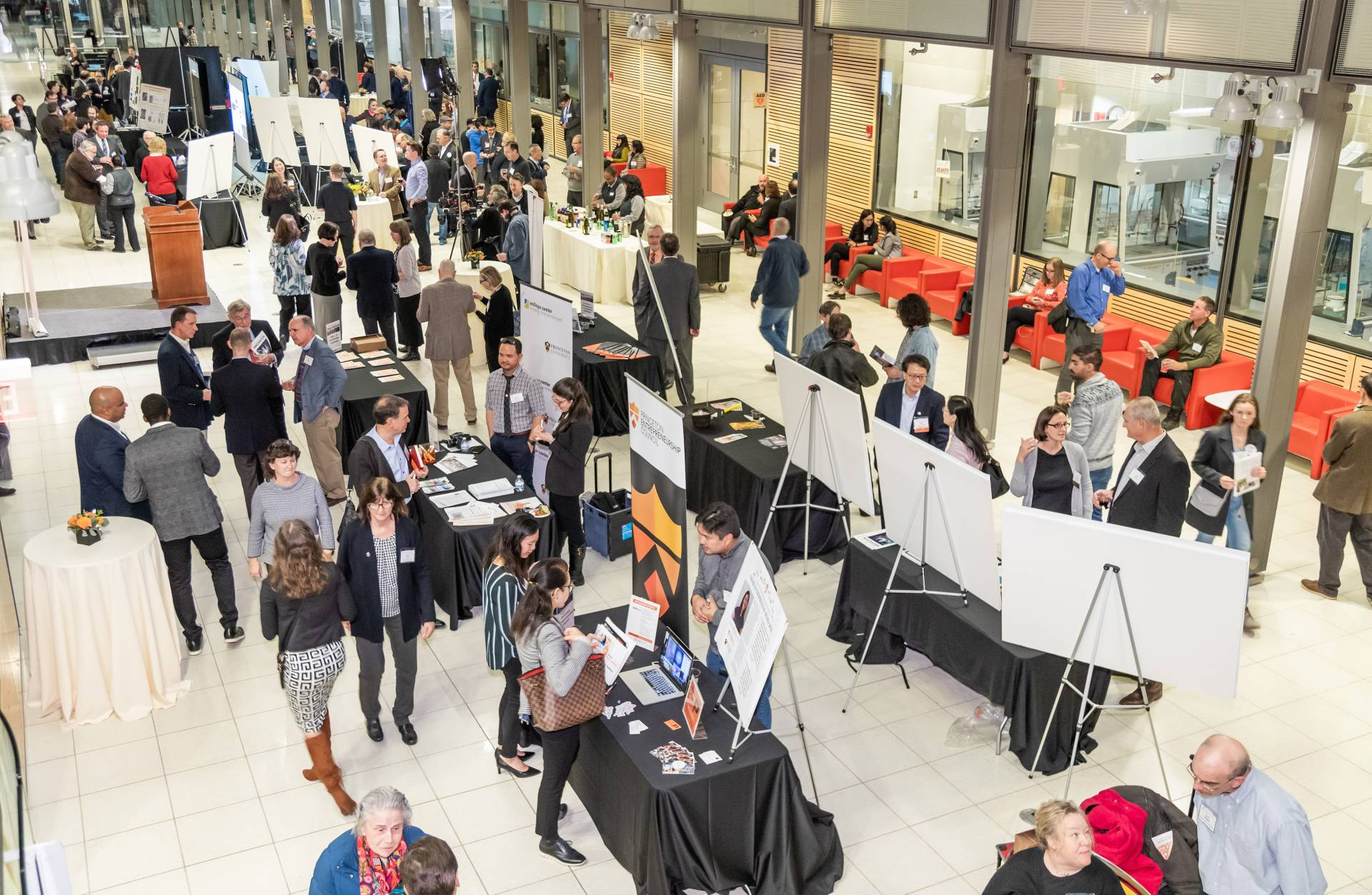 Guests and researchers mingle at CPI event
