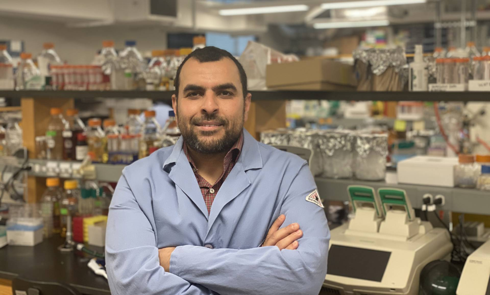Mohamed Abou Donia in his lab