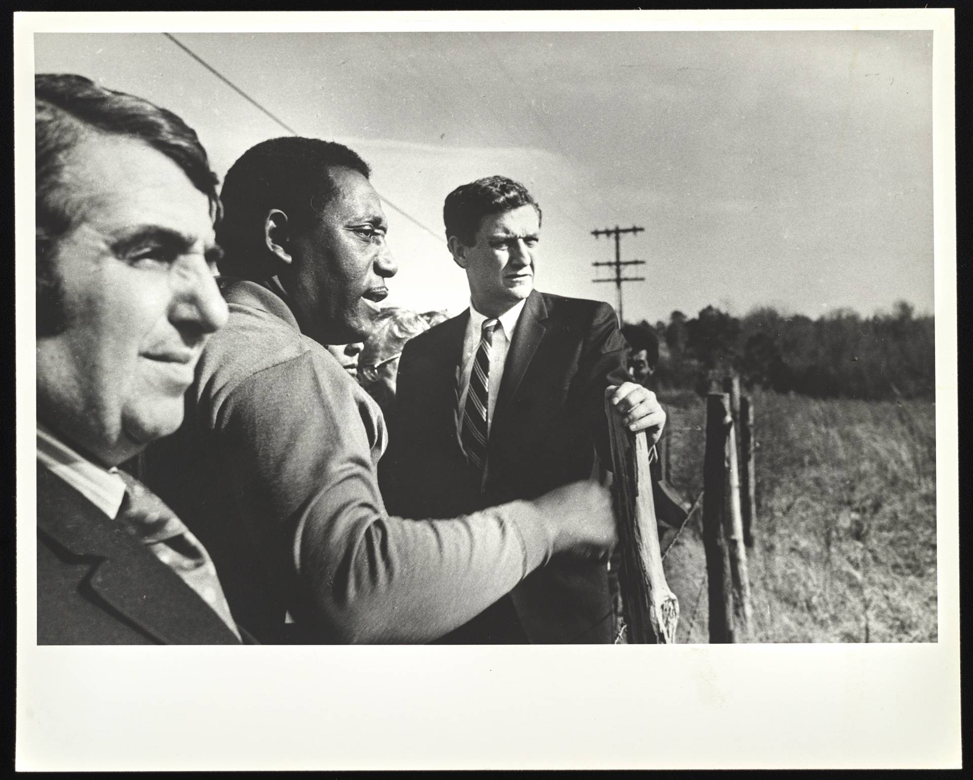 John Doer stands with 2 of his fellow Freedom Riders