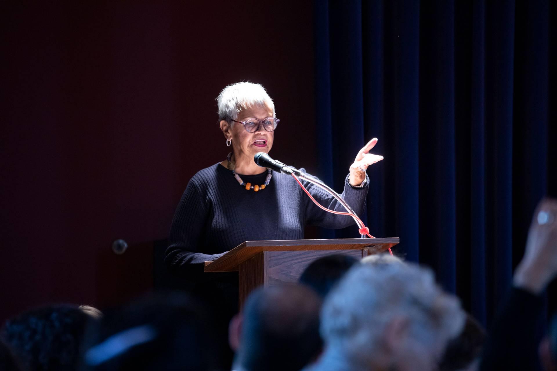 Bonnie Watson Coleman speaking at podium