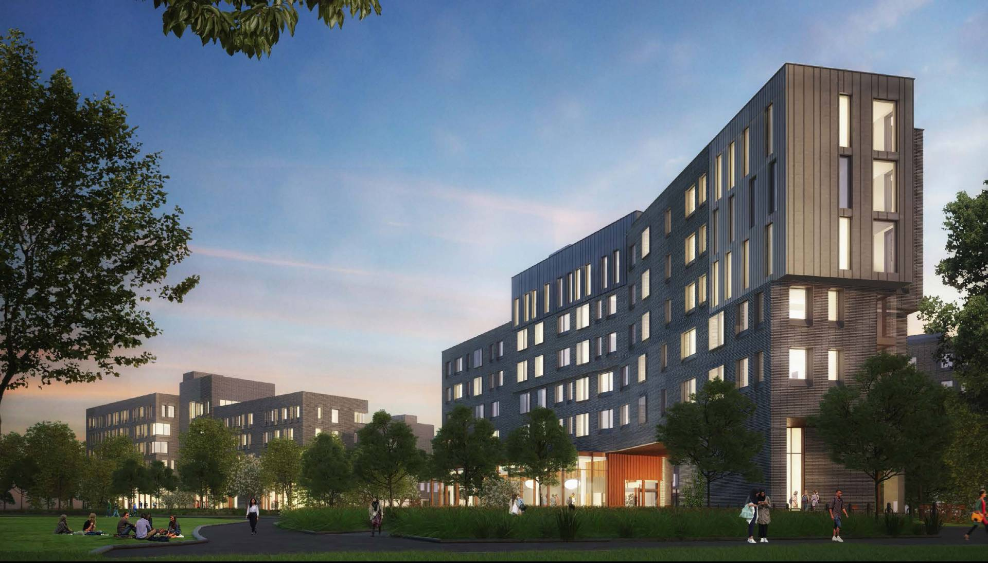 Architectural rendering of what new residential colleges may look like