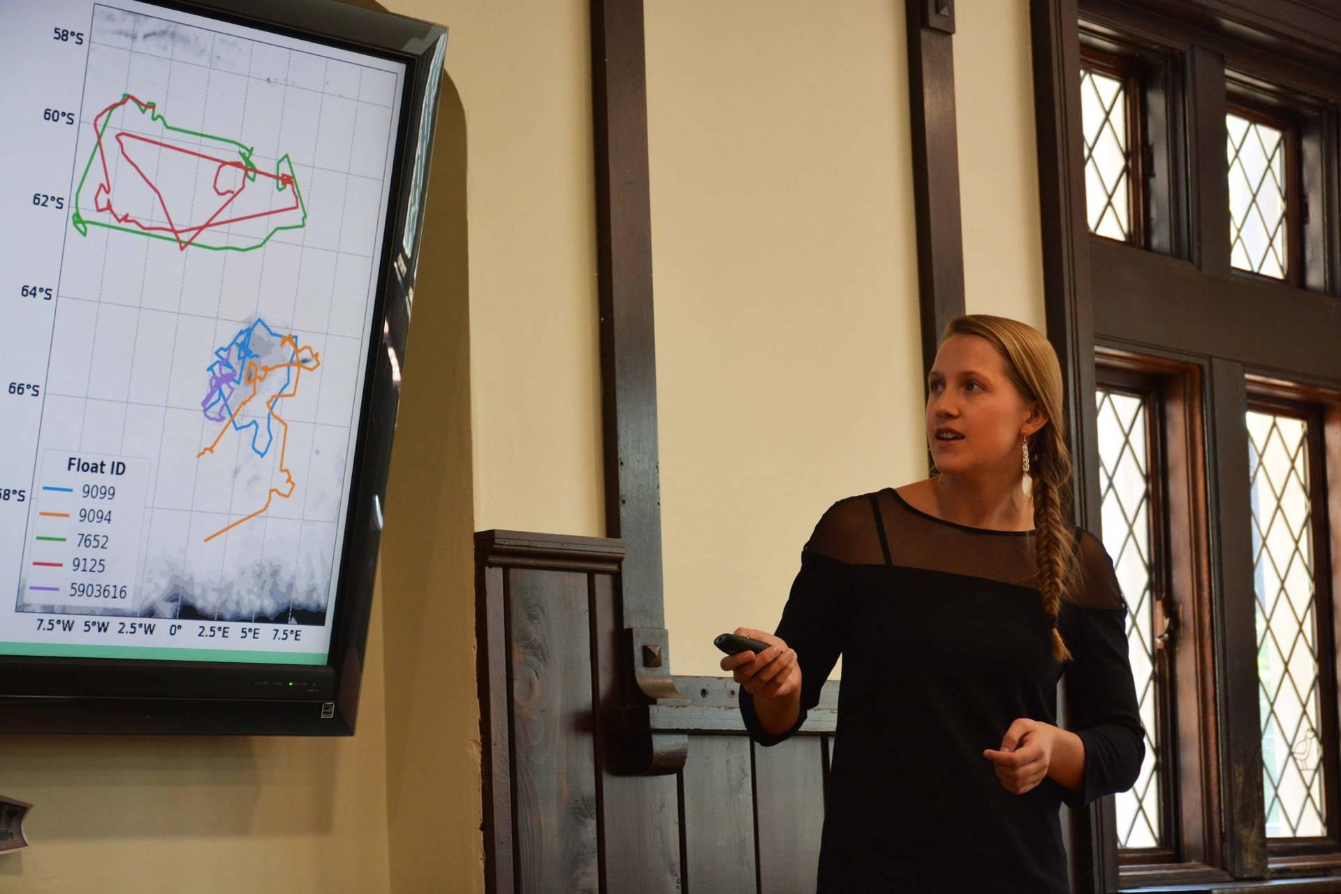 Lauren von Berg presenting findings