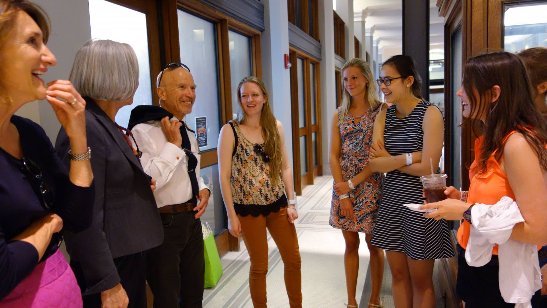 Ferenbach speaks to students at Guyot Hall