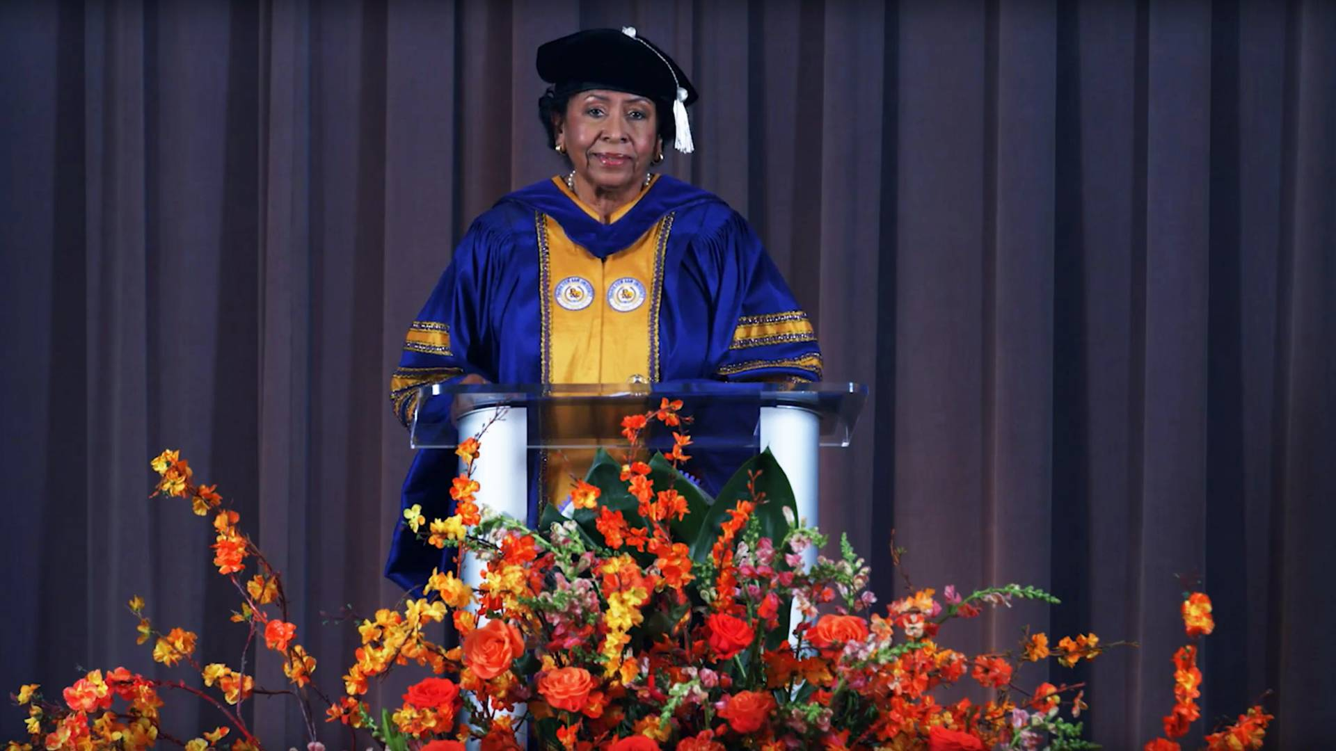 President Ruth Simmons delivering Baccalaureate remarks