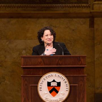 Sonia Maria Sotomayor speaking at Alumni Day