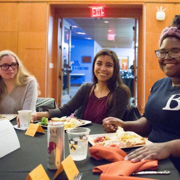 Students at dinner