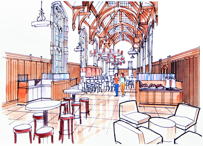 Dining hall renovations