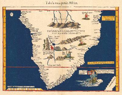 1541 map of Africa