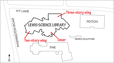 Lewis Library site diagram