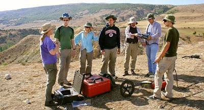 members of the Avkat Project geophysics survey team