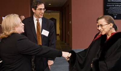 Kim Sheppele with Justice Ginsburg