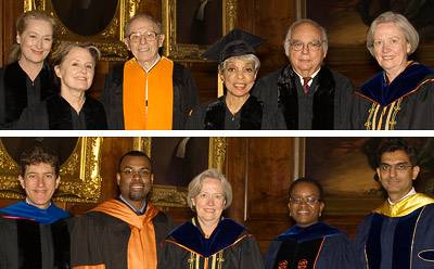 Honorary degrees and teaching excellence awards