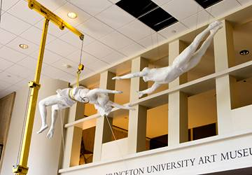 """Circus Acrobats,"" a 1981 plaster sculpture by George Segal"