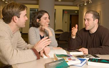 Shapiro with post-doctoral students