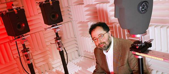 Edgar Choueiri in sound lab
