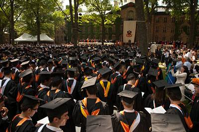 Commencement crowd shot