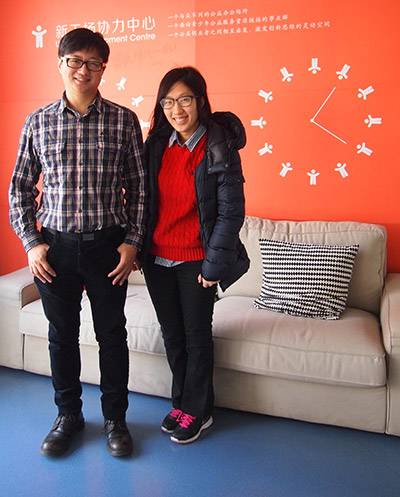 Senior Thesis Hanna Kim with director of Chinese Youth Development Center