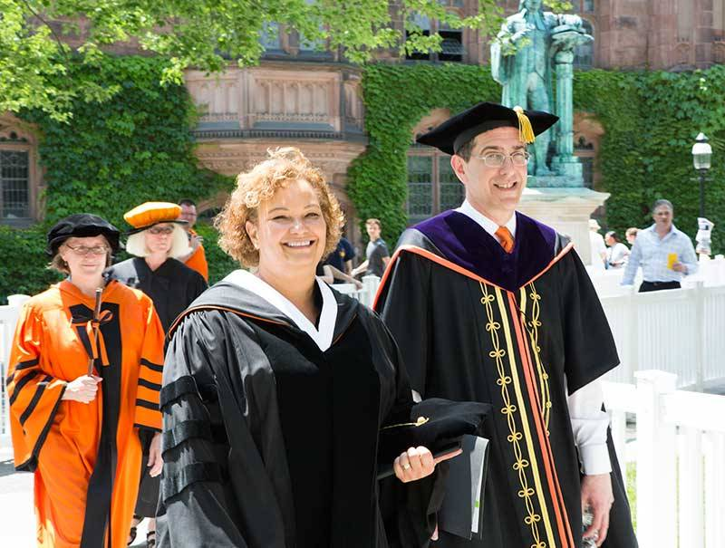 Baccalaureate 2015 Lisa Jackson with President Eisgruber
