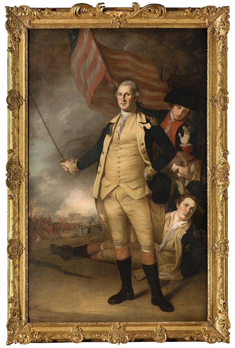 July 4 Peale portrait of George Washington
