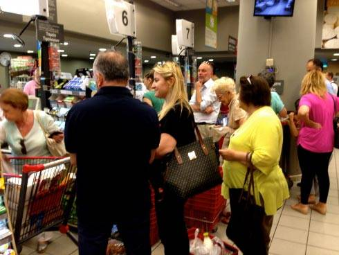 Makenna May Greece blog grocery lines