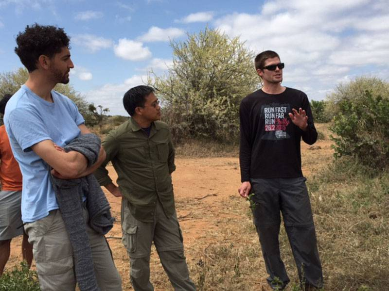 Provost Lee visits Mpala Research Center with Tyler Coverdale, Julien Ayroles