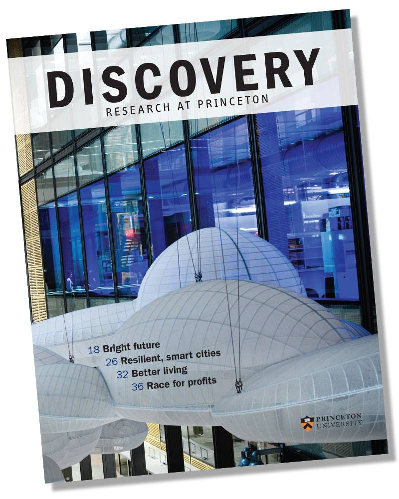 """Discovery: Research at Princeton"" Discovery magazine cover"