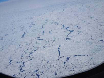 arctic ice as seen from above