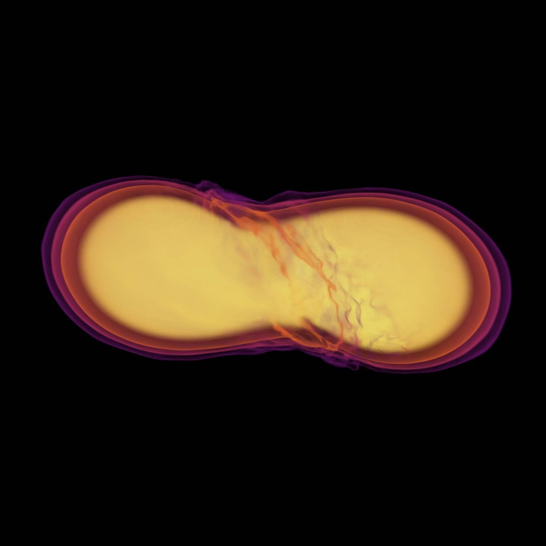 2 Neutronstjerner kolliderer