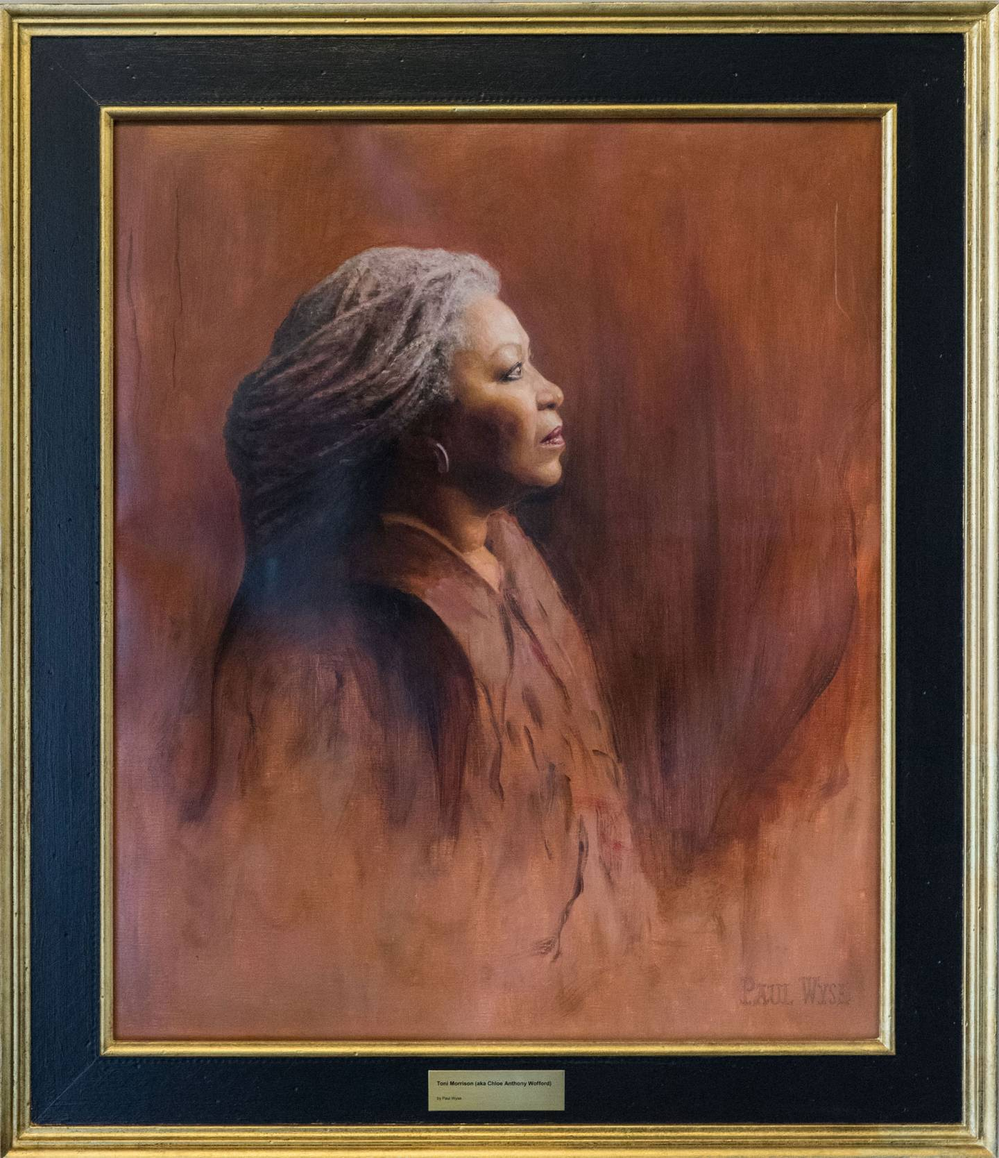 Framed portrait of Toni Morrison by Paul Wyse