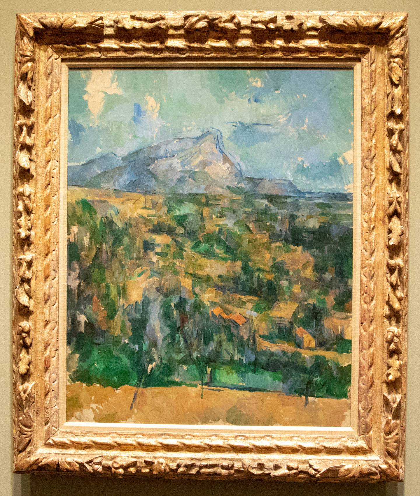 "Cézanne's oil on canvas, ""Mount Saint Victoire"""