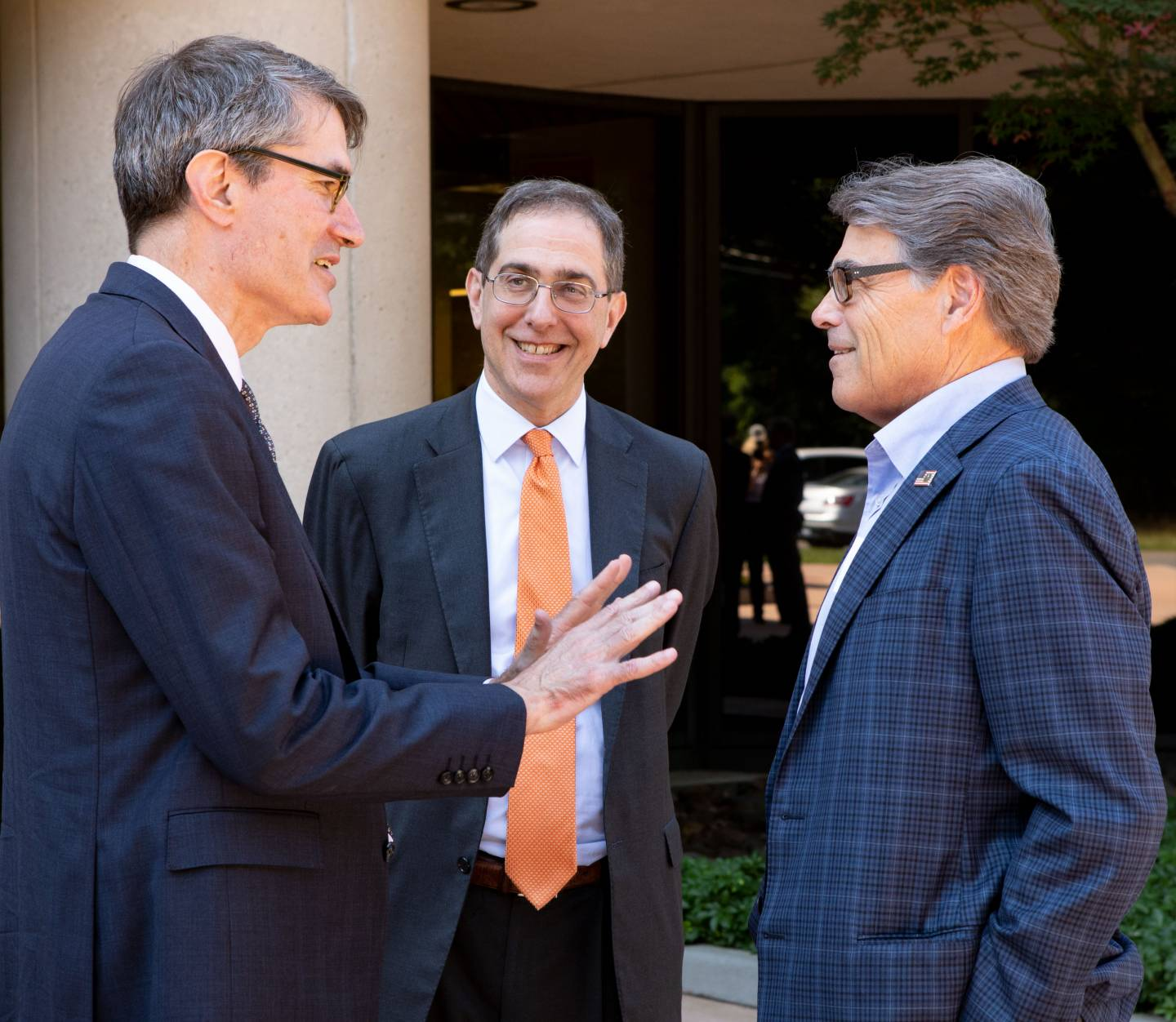 Steven Cowley, President Eisgruber, Rick Perry